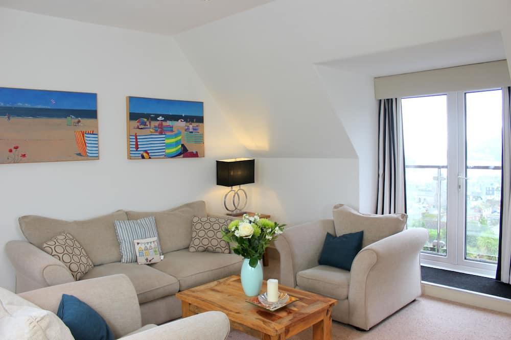 Traditional-Apartment, eigenes Bad, Flussblick (Lauriston House) - Lounge