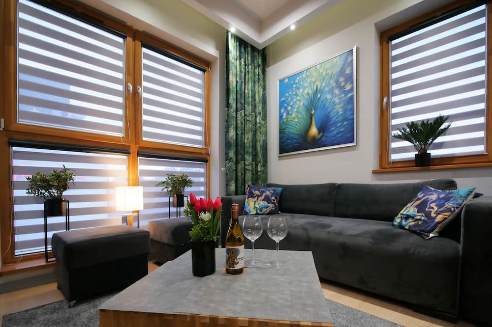 Comfort Apartment, Non Smoking, City View - Living Area