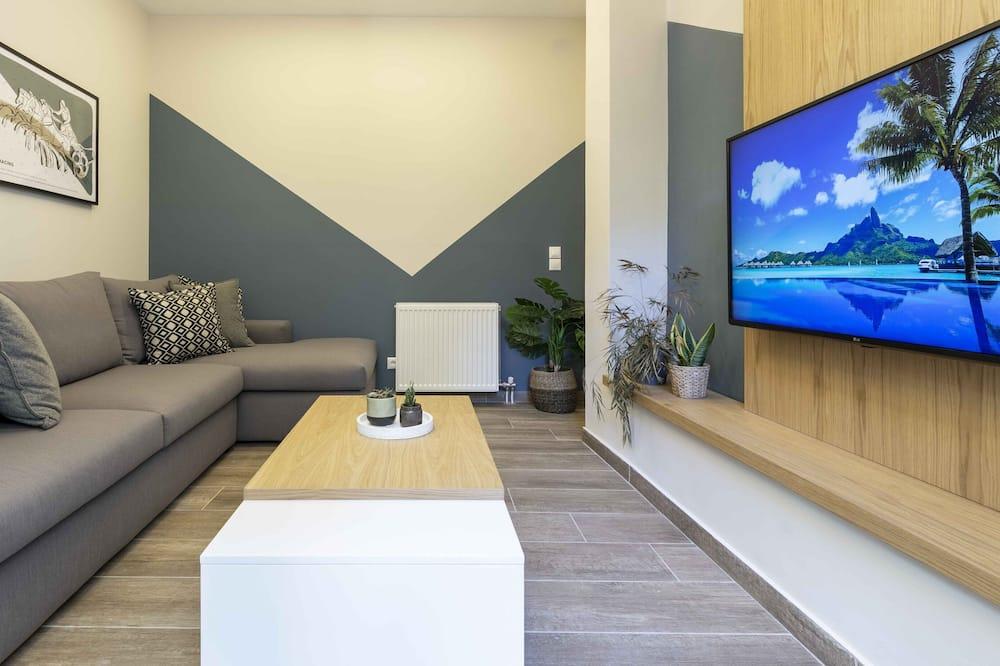 Apartmán typu Exclusive, 4 spálne, nefajčiarska izba, terasa - Obývacie priestory