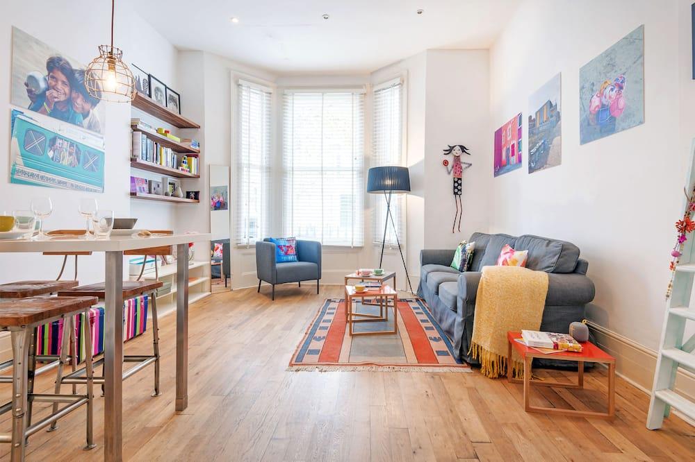 Apartmán typu Comfort, 2 spálne, nefajčiarska izba, vaňa (2 Bedrooms) - Obývačka