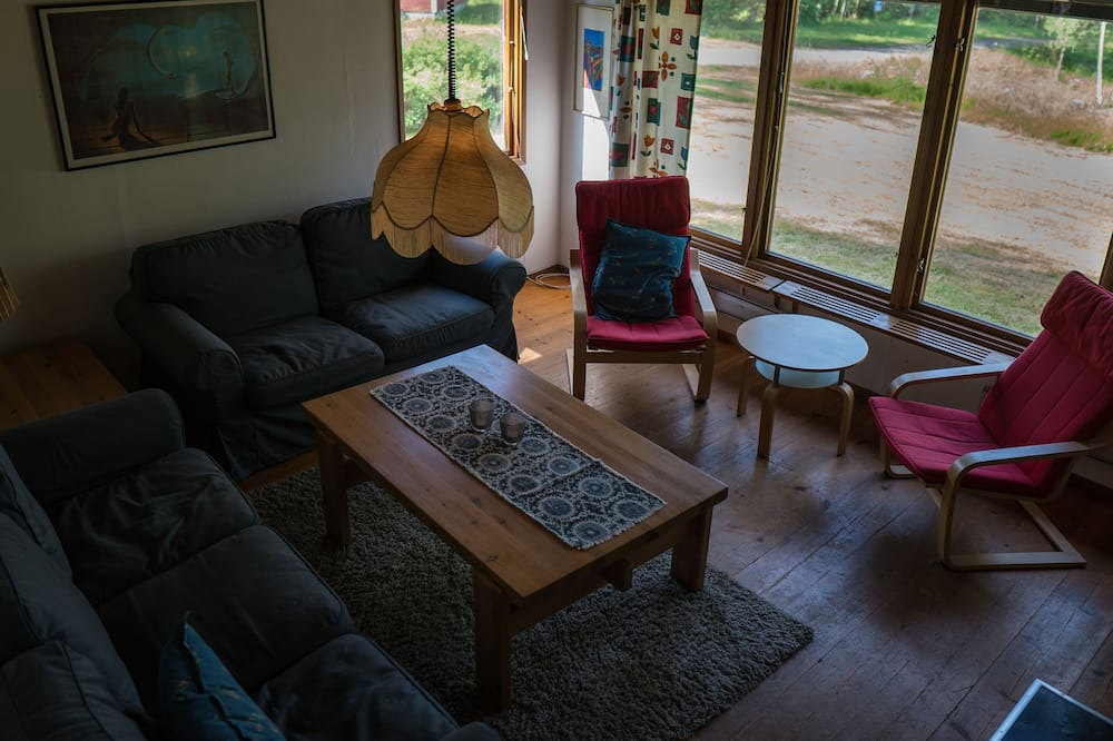 Family Cabin, 3 Bedrooms, Fireplace, Garden View - Living Area