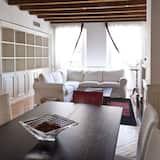 อพาร์ทเมนท์, เตียงควีนไซส์ 1 เตียง, ปลอดบุหรี่, ห้องครัว - ห้องนั่งเล่น
