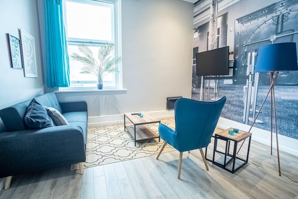 Apartmán typu Classic, 1 extra veľké dvojlôžko s rozkladacou sedačkou - Obývacie priestory
