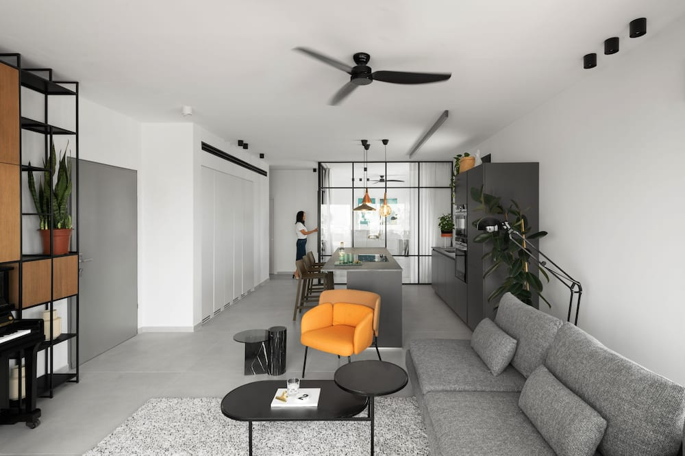 Business Apartment, 3 Bedrooms, Sea View, Tower - Living Area