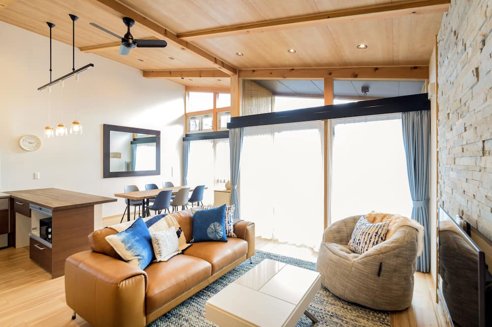 奢華小木屋, 3 間臥室, 露台, 山景 - 客廳