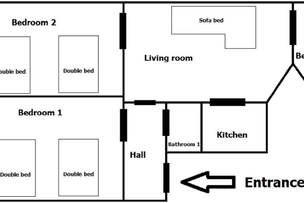 Apartamentai mieste - Svetainės zona