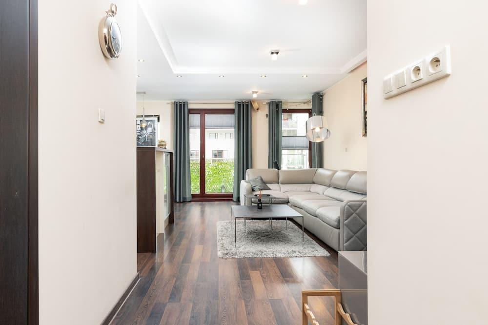 Apartament, 1 sypialnia, balkon - Powierzchnia mieszkalna