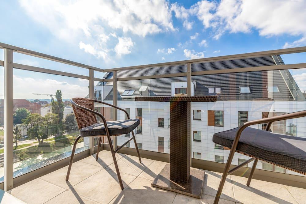 Dzīvokļnumurs, viena guļamistaba, balkons, skats uz jūru - Balkons