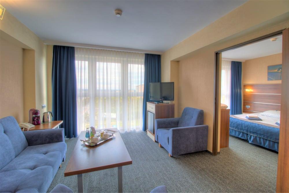 جناح سوبيريور - سرير ملكي مع أريكة سرير - في طابق علوي - غرفة معيشة