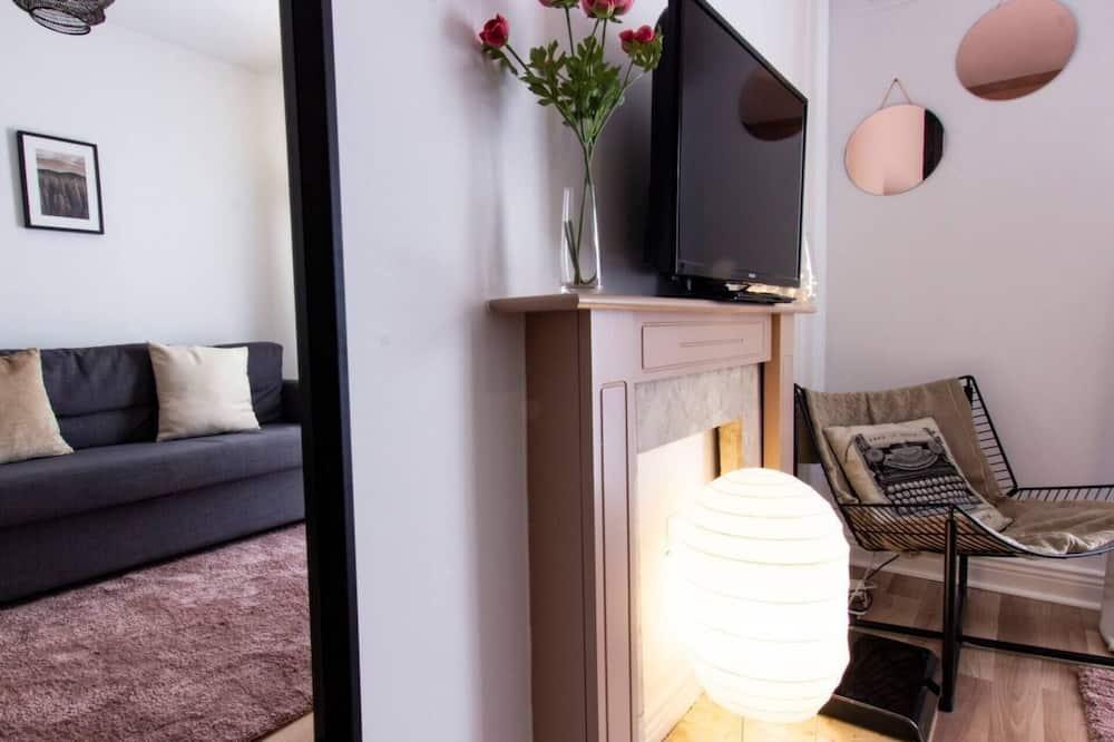 Apartament, Łóżko queen - Salon