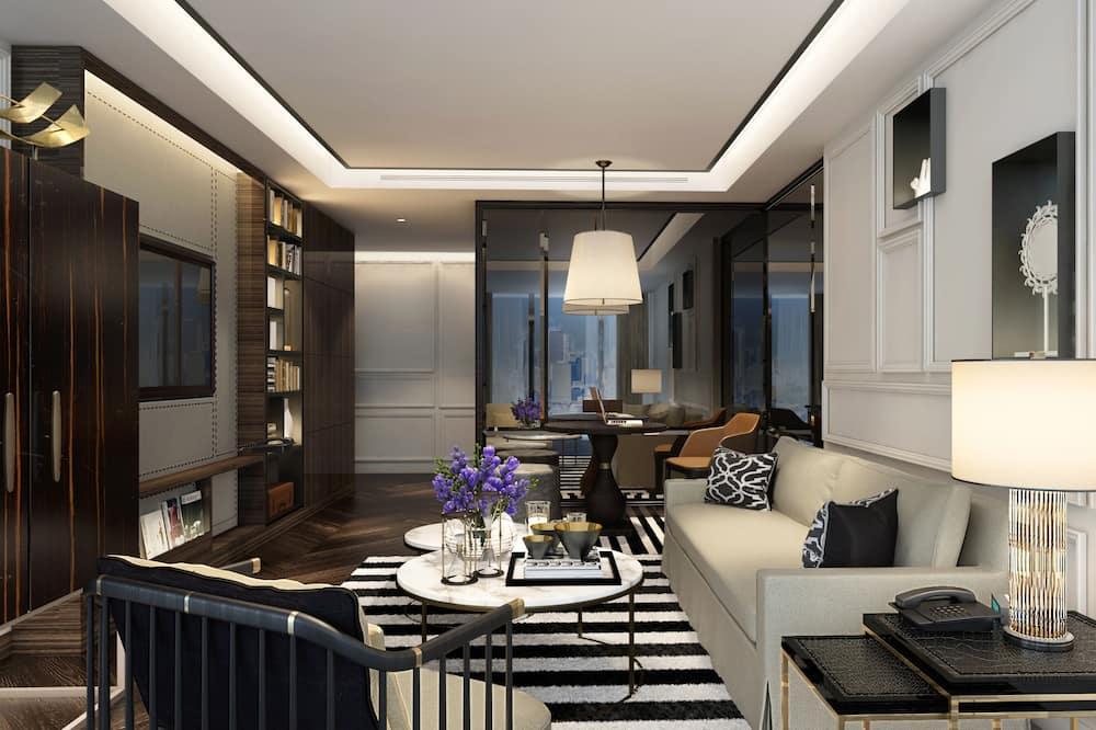 Suite, 1King-Bett, Zugang zur Business-Lounge (Prestige) - Wohnbereich