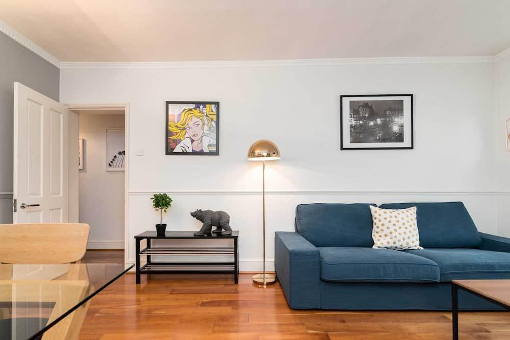 เบสิกอพาร์ทเมนท์, เตียงควีนไซส์ 1 เตียง - ห้องนั่งเล่น