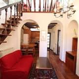 アパートメント クイーンベッド 1 台ソファーベッド付き - リビング ルーム