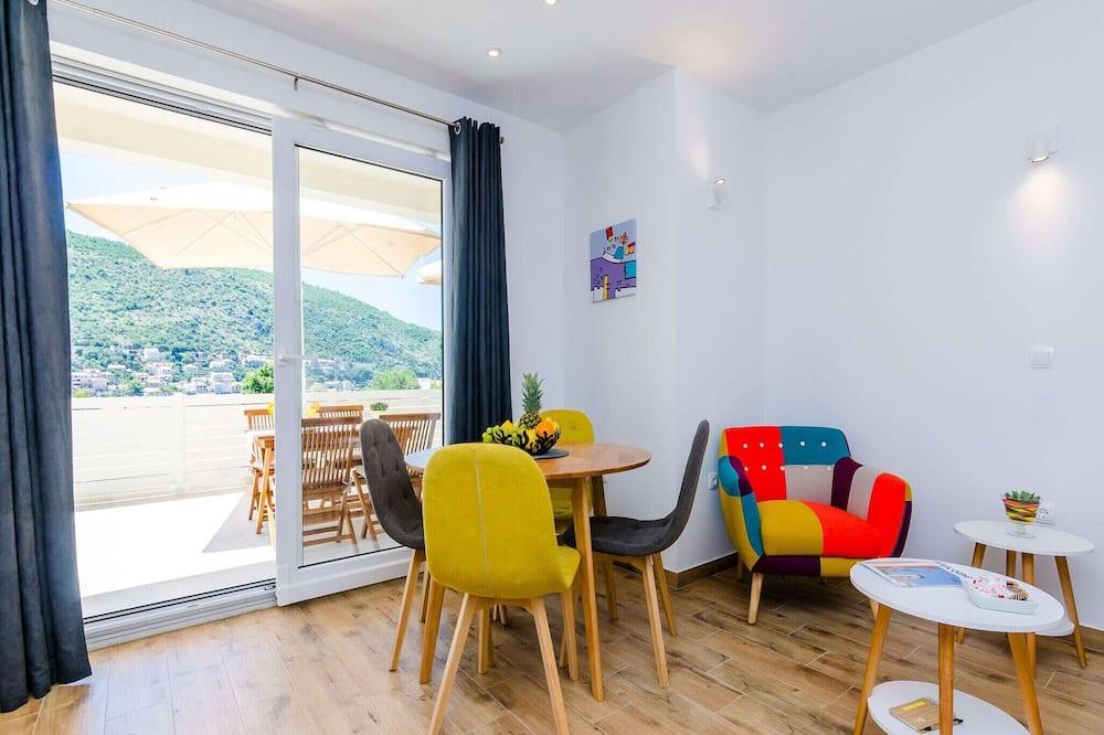 Íbúð (Two-Bedroom Apartment with Terrace) - Stofa