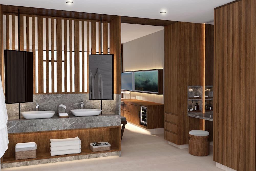 Preferred Club Junior Suite Partial Ocean View Double - バスルーム