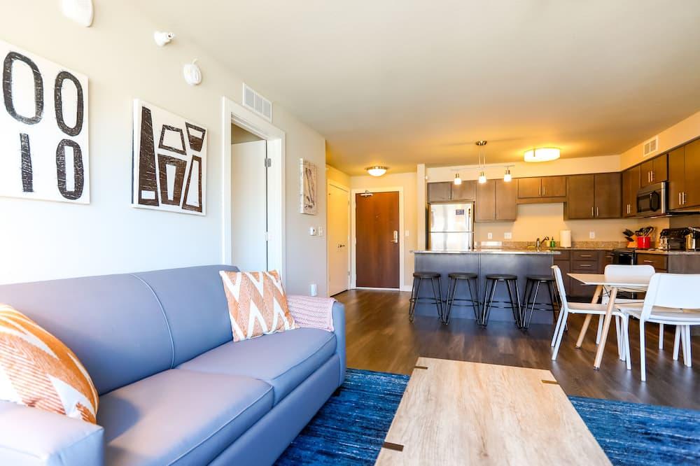コンフォート アパートメント キングベッド 1 台ソファーベッド付き 禁煙 - リビング ルーム