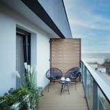 Apartamentai, 1 miegamasis, balkonas, vaizdas į jūrą - Balkonas