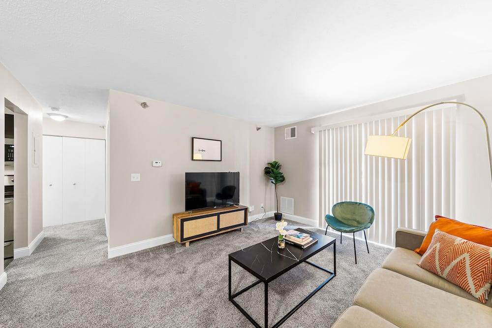 Lägenhet Comfort - 1 kingsize-säng med bäddsoffa - icke-rökare - Vardagsrum