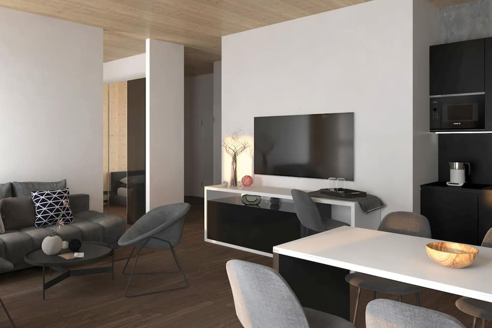 Apartment, City View - Living Area