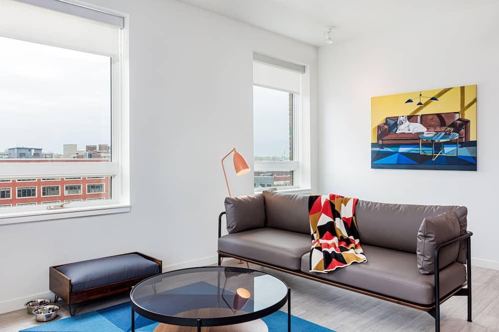 Süit, 2 Yatak Odası (Double and Queen Beds) - Oturma Alanı