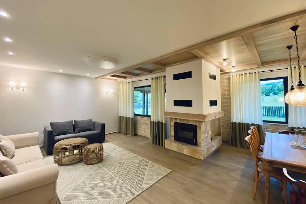 Designový domek, 3 ložnice, nekuřácký, výhled na hory - Obývací prostor
