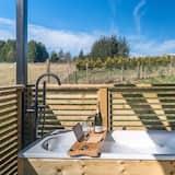 Deluxe-Ferienhütte, mit Bad (Cabin) - Blick vom Balkon