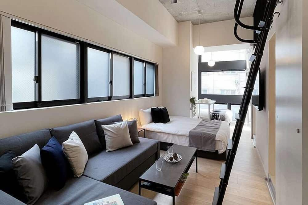 Deluxe Condo, 1 Bedroom, Non Smoking, City View (bHotel Nekoyard 301) - Ruang Tamu