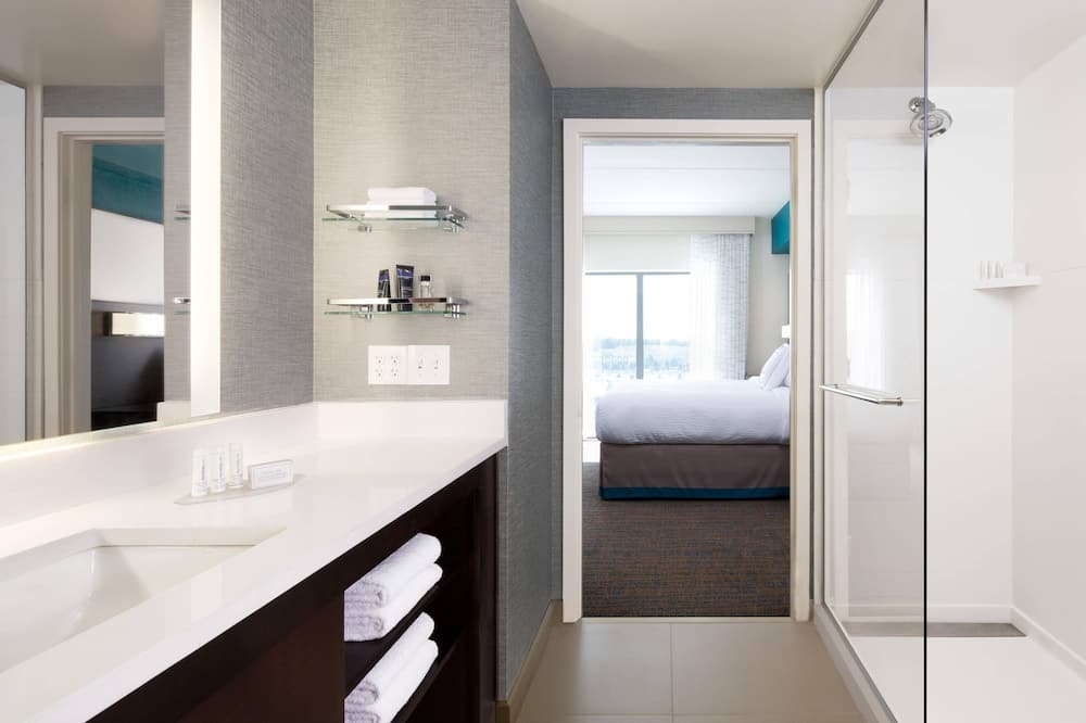 都會套房, 1 間臥室, 非吸煙房, 城市景 - 浴室