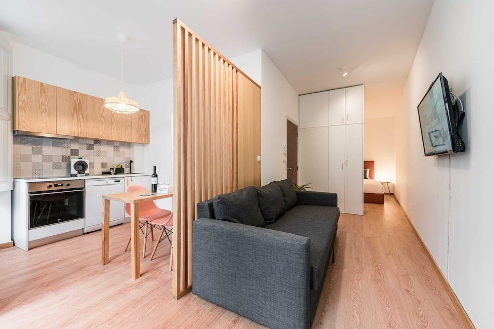 Studio cơ bản, 1 giường đôi và sofa giường - Phòng khách