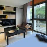 Premier-Apartment, 1 Schlafzimmer - Wohnzimmer