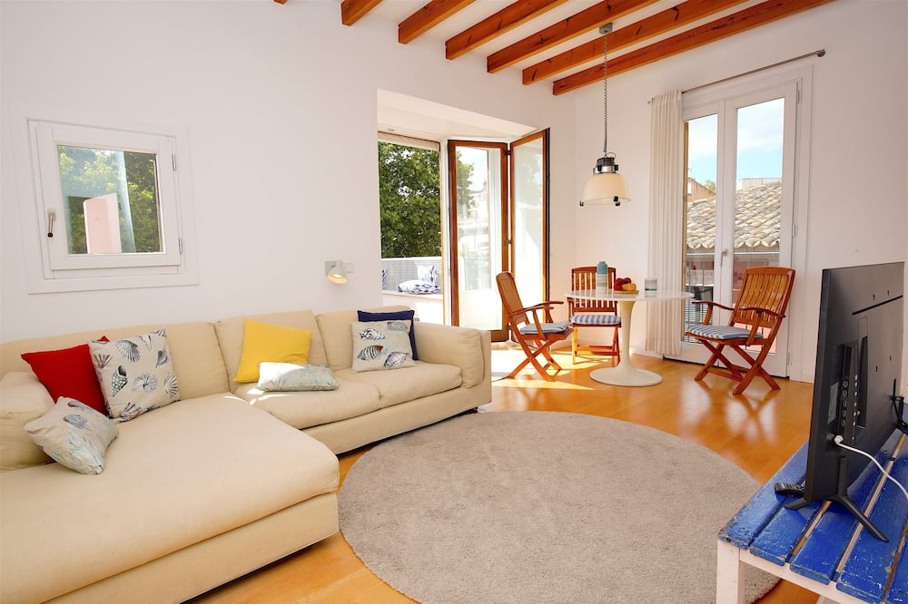 Apartment, 2 Bedrooms, Terrace, City View - Living Area