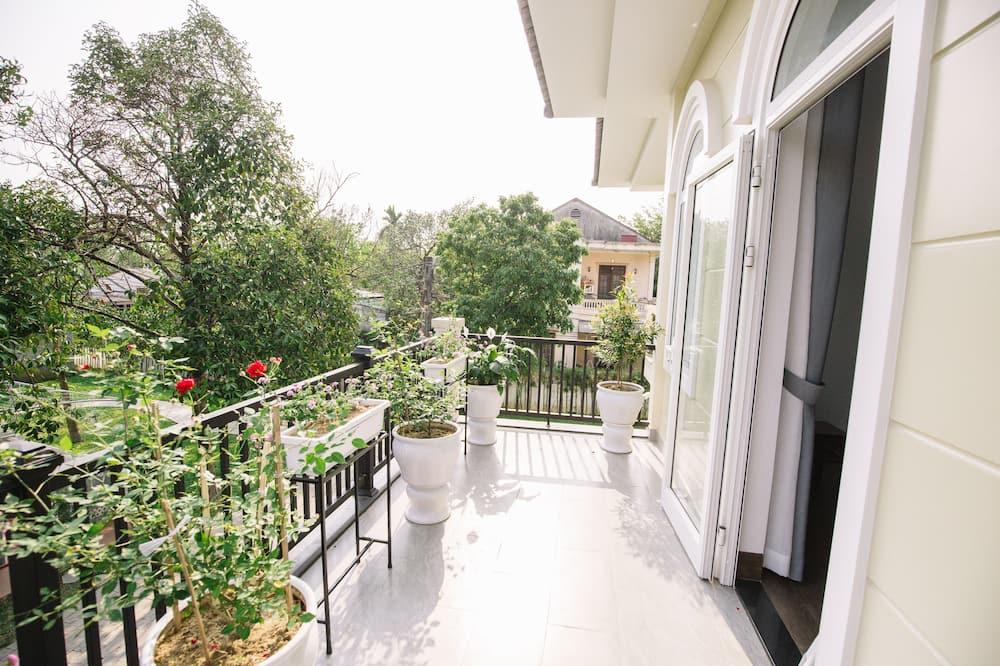 Deluxe-Doppel- oder -Zweibettzimmer - Blick auf den Garten