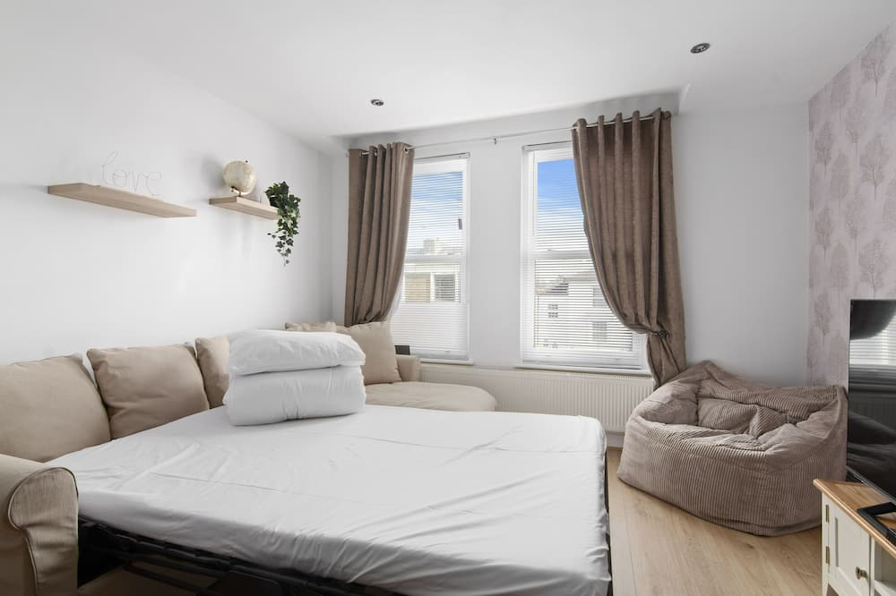 Premier-Apartment, eigenes Bad, Gartenblick - Lounge