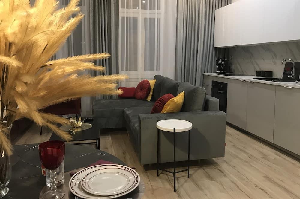 ซิตี้อพาร์ทเมนท์ - ห้องนั่งเล่น