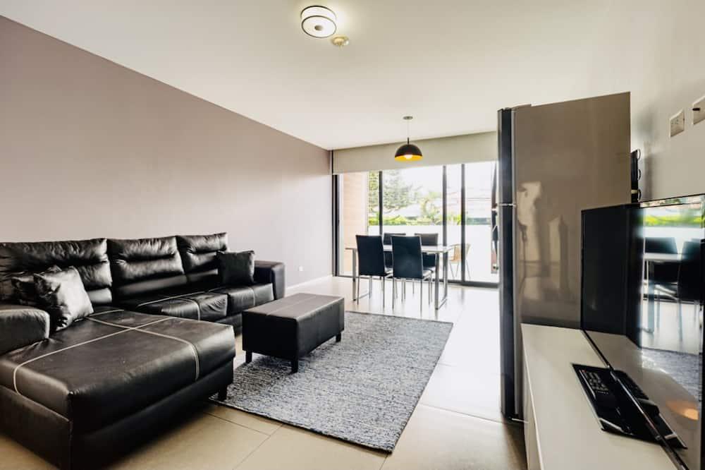 Išskirtinio tipo apartamentai, 1 miegamasis, Nerūkantiesiems, vidinis kiemas - Svetainės zona