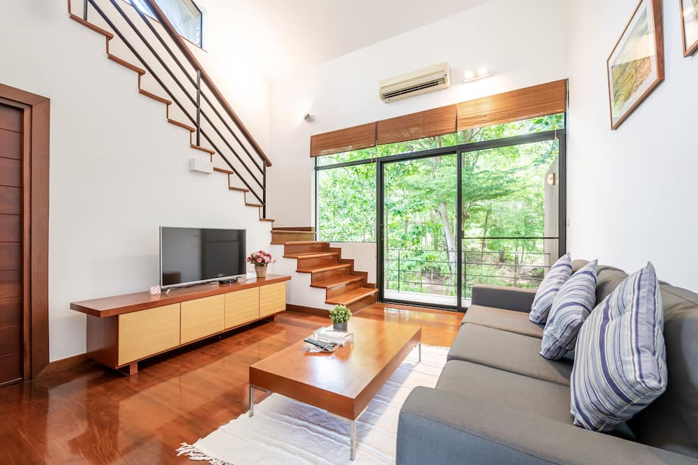 Duplex Twin with Terrace - Mountain View - 客廳