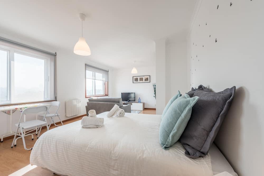 Apartmán typu Basic, dvojlůžko a rozkládací pohovka - Pokoj