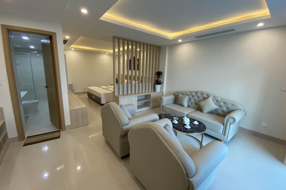럭셔리룸, 침실 1개 - 거실 공간
