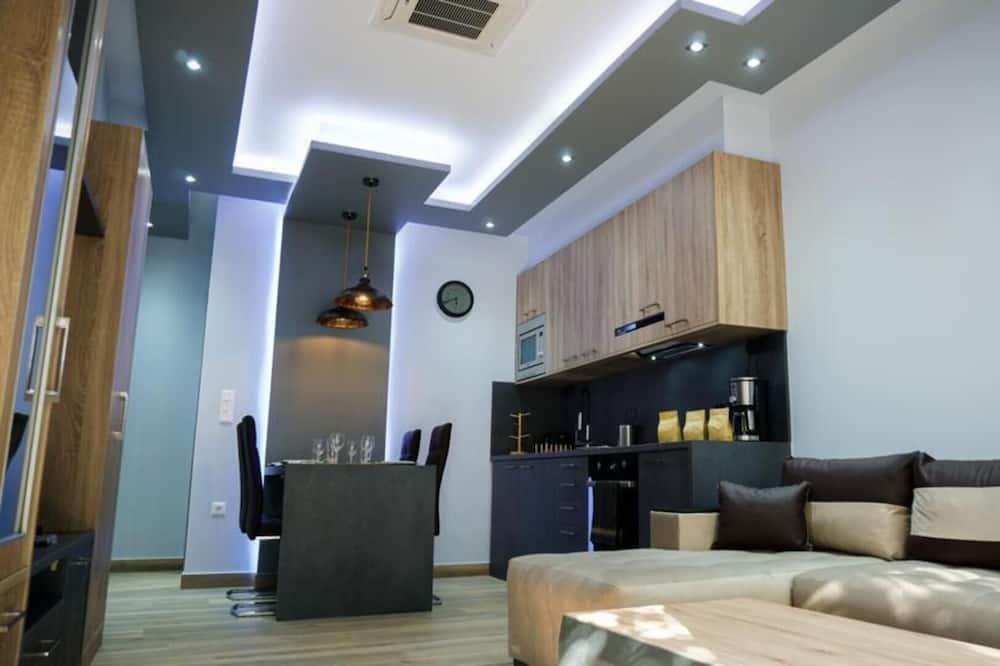 Departamento, 1 cama Queen size con sofá cama - Sala de estar