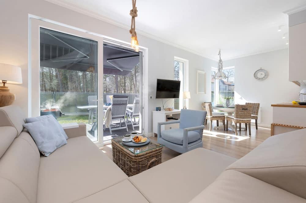 Departamento, 2 habitaciones, terraza, junto a la playa - Sala de estar