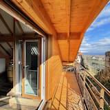 Pokój dwuosobowy typu Superior, widok na winnicę (Chambre MALO) - Z widokiem na balkon