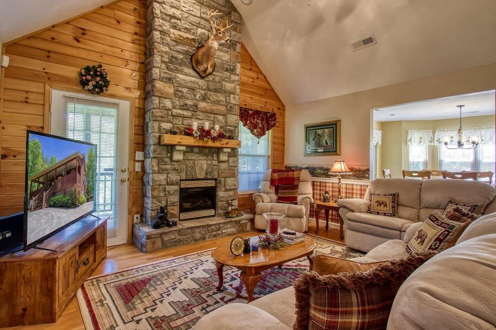 Cabin có tầm nhìn toàn cảnh - Khu phòng khách
