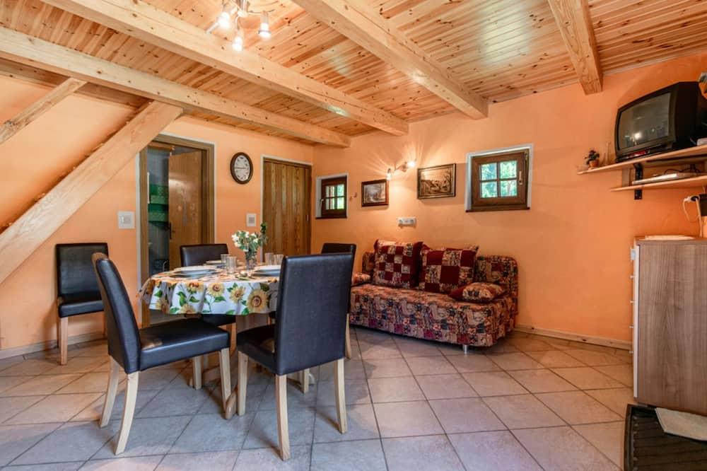 Family Chalet, Multiple Beds, Garden Area (Alpine Cottage Lepena) - Living Area