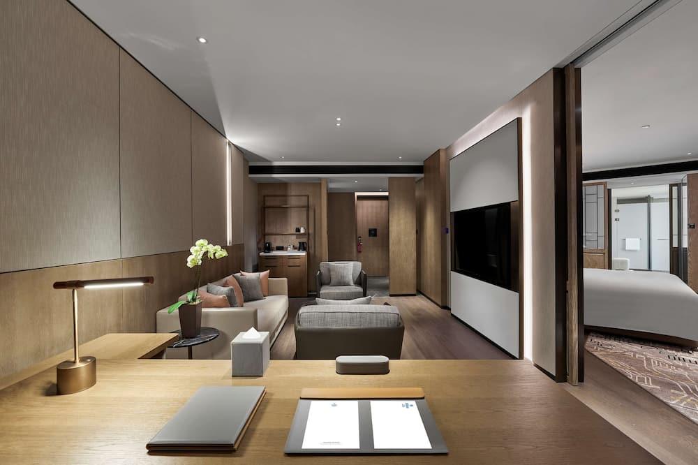 行政套房, 1 张特大床 - 起居区