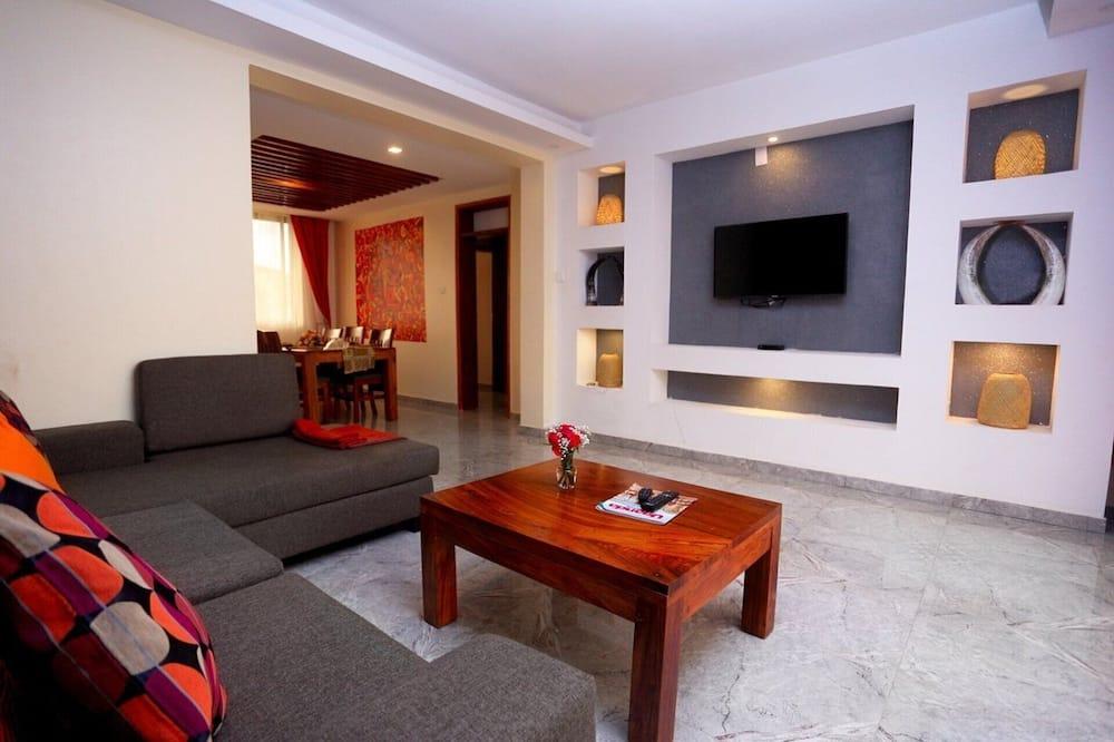 Appartement, 1 tweepersoonsbed - Woonkamer