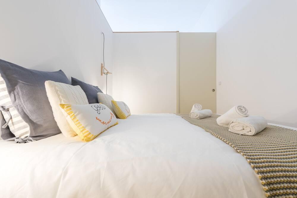 Basic-lejlighed - 1 queensize-seng med sovesofa - Værelse