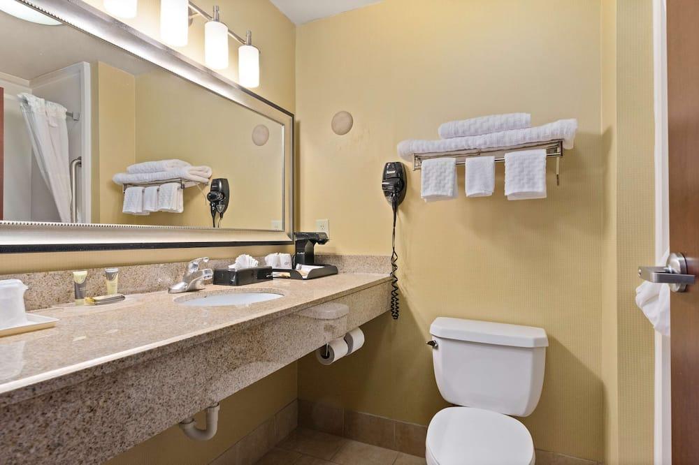 חדר סטנדרט, מיטת קינג וספה נפתחת, ללא עישון, מקרר ומיקרוגל (with Sofabed) - חדר רחצה