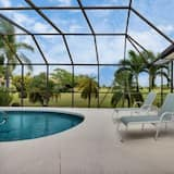 Picturesque golf course views, heated pool