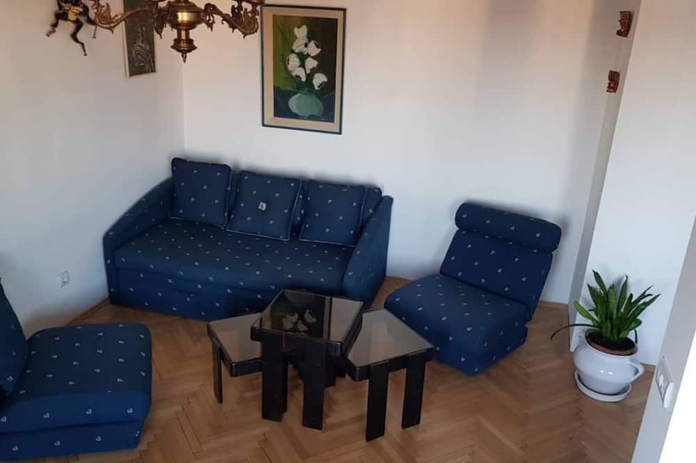アパートメント キングベッド 1 台ソファーベッド付き - リビング ルーム