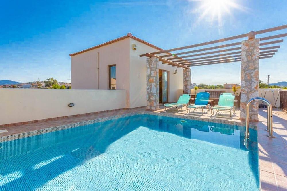 Villa Melina Private Pool Walk to Beach Sea Views A C Wifi Car Not Required - 1605